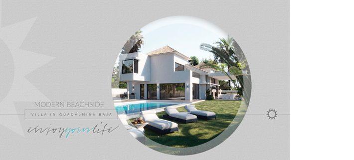 Diseño de catálogo de inmueble en Guadalmina Baja de Marbella
