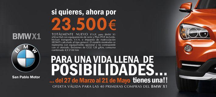 Valla de gran formato para la BMW - San Pablo Motor con oferta