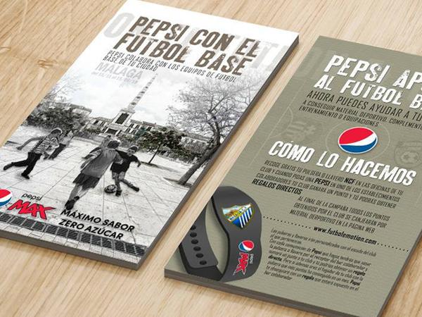 flyer de campaña de publicidad de Pepsi
