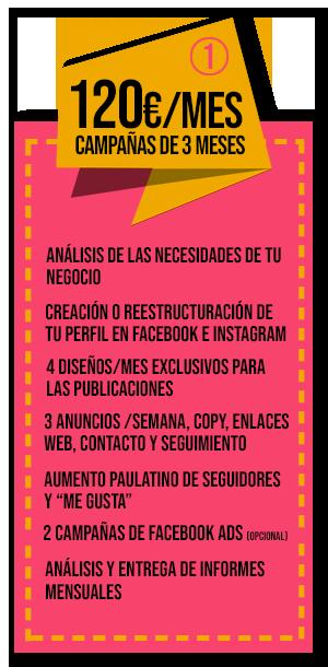 oferta campaña MARKETING DIGITAL 180€/mes